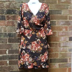 Wrap dress Fall colors June and Hudson dress JR XL